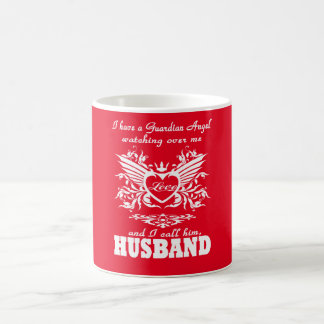 My guardian Angel, My Husband Classic White Coffee Mug