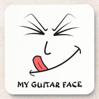 My Guitar Face Music Coaster