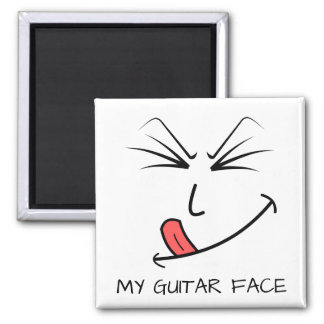 My Guitar Face Music Magnet