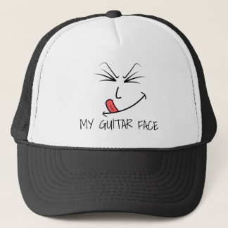 My Guitar Face Music Trucker Hat