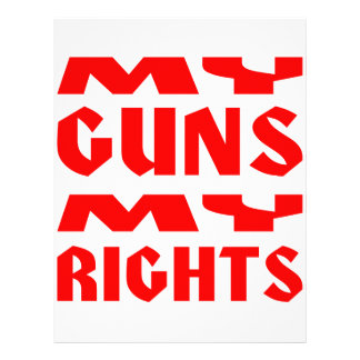 My Guns My Rights Letterhead Template