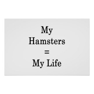 My Hamsters Equals My Life Poster