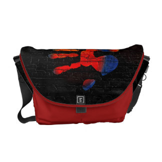 My hand with fire messenger bag