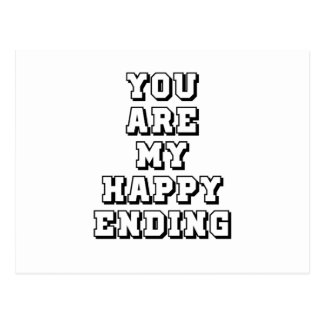 My happy ending postcard