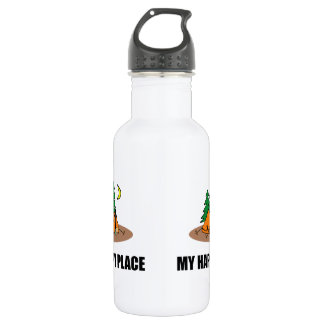 My Happy Place Camping Tent 532 Ml Water Bottle