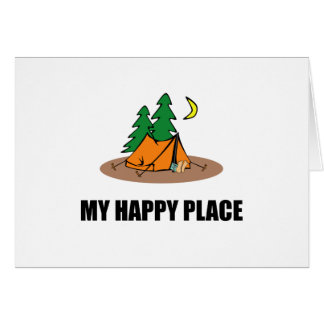 My Happy Place Camping Tent Card