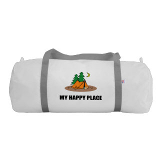 My Happy Place Camping Tent Gym Bag