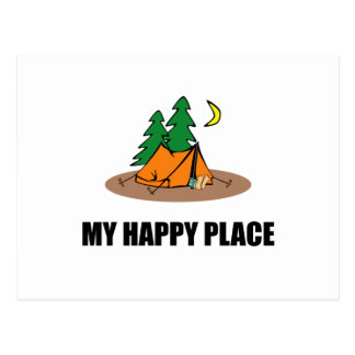 My Happy Place Camping Tent Postcard