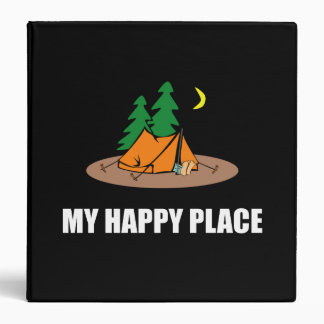 My Happy Place Camping Tent Vinyl Binders