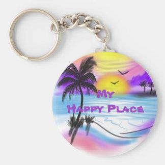 My Happy Place Keychain