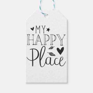 my happy place pack of gift tags