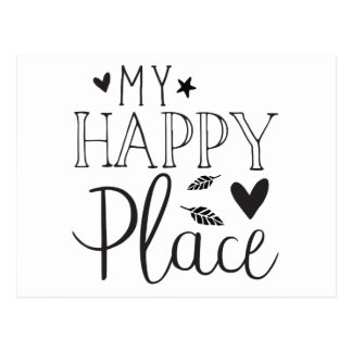 my happy place postcard