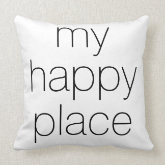 'My Happy Place' Throw Pillow
