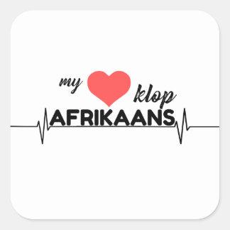 My hart klop Afrikaans Square Sticker