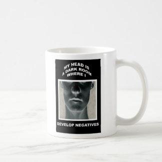 My head is a darkroom where I develop negatives Basic White Mug