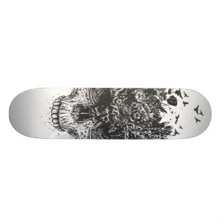 My head is a jungle (blackandwhite) custom skateboard