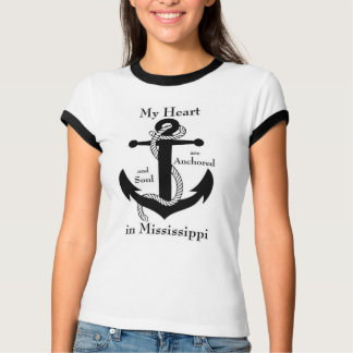 My heart and soul are anchored in Mississippi T-Shirt