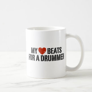My Heart Beats For a Drummer Coffee Mug