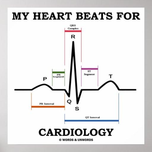 My Heart Beats For Cardiology (ECG / EKG) Print