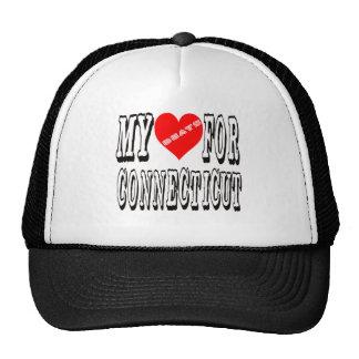 My Heart Beats For CONNECTICUT. Trucker Hat
