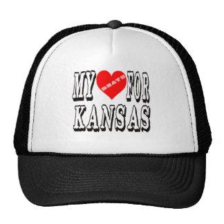 My Heart Beats For KANSAS. Trucker Hat