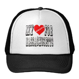 My Heart Beats For MASSACHUSETTS. Trucker Hat