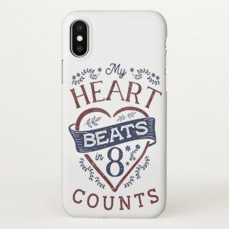 My Heart Beats in 8 Counts Dance iPhone X Case
