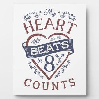 My Heart Beats in 8 Counts Dance Plaque