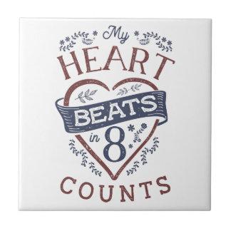 My Heart Beats in 8 Counts Dance Tile
