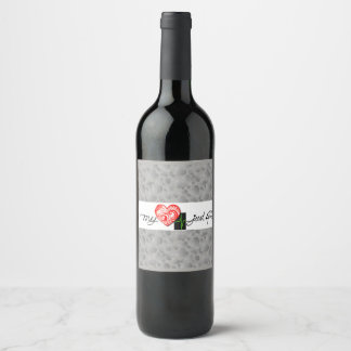 My Heart Beats only for You Wine Label