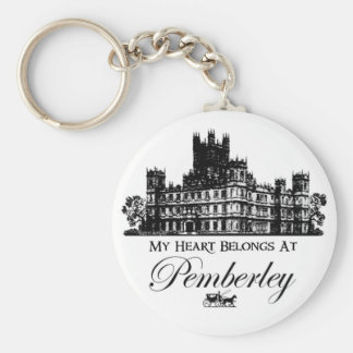 My Heart Belongs At Pemberley Keychain