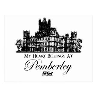 My Heart Belongs At Pemberley Postcard