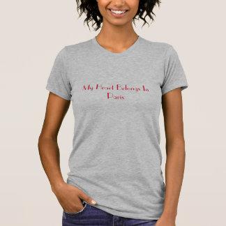 My Heart Belongs In Paris Ladies Tee-Shirt T Shirts