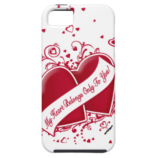 My Heart Belongs Only To You! Red Hearts iPhone 5 Covers