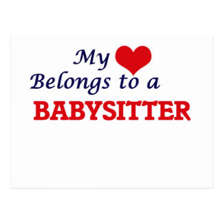 My heart belongs to a Babysitter Postcard