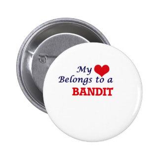 My heart belongs to a Bandit 2 Inch Round Button