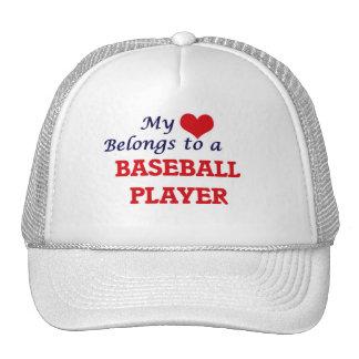 My heart belongs to a Baseball Player Trucker Hat