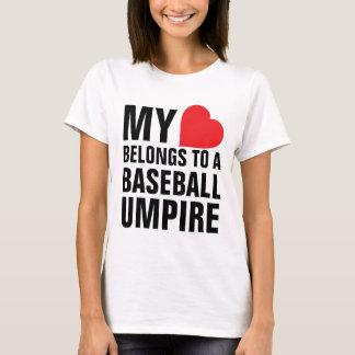 My heart belongs to a Baseball Umpire T-Shirt