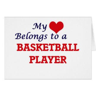 My heart belongs to a Basketball Player Card
