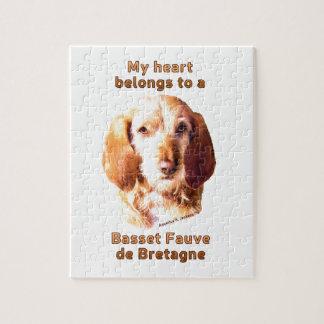 My Heart Belongs To A Basset Fauve de Bretagne Jigsaw Puzzle
