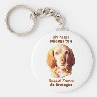 My Heart Belongs To A Basset Fauve de Bretagne Keychain