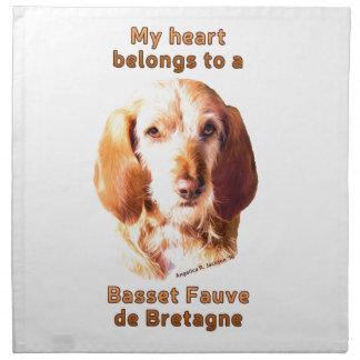 My Heart Belongs To A Basset Fauve de Bretagne Napkin