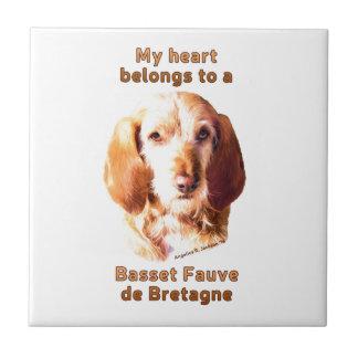 My Heart Belongs To A Basset Fauve de Bretagne Tile