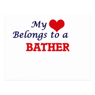 My heart belongs to a Bather Postcard