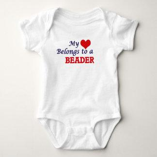 My heart belongs to a Beader Baby Bodysuit