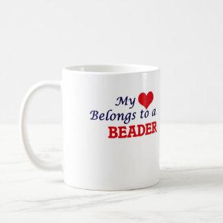 My heart belongs to a Beader Coffee Mug