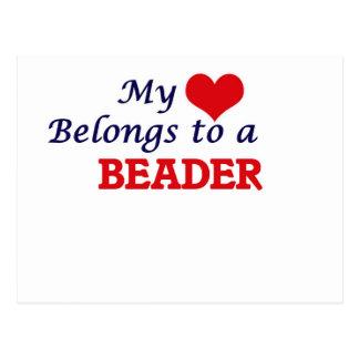 My heart belongs to a Beader Postcard
