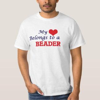 My heart belongs to a Beader T-Shirt