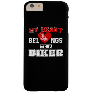 My heart belongs to a Biker Barely There iPhone 6 Plus Case