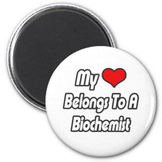My Heart Belongs To A Biochemist 2 Inch Round Magnet